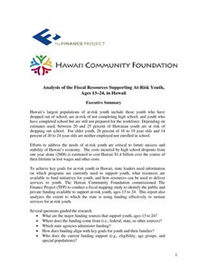 Fiscal Resources Supporting At-Risk Youth