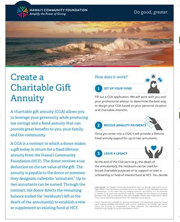 Create a Charitable Gift Annuity