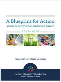 A Blueprint for Action: Water Security for an Uncertain Future 2016-2018