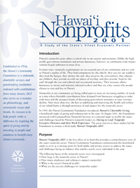 Nonprofit Industry Report 2001