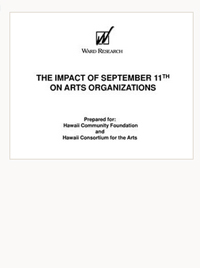 The Impact of September 11th on Arts Organizations